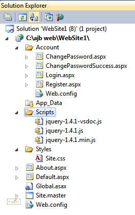 ASP.NET website default files