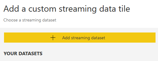 Add a streaming dataset