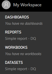 Power BI Service dataset