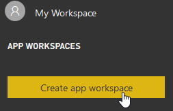 Creating a new app workspace