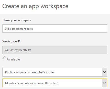 Saving an app workspace