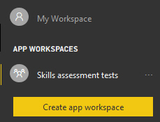 Skills assessment workspace