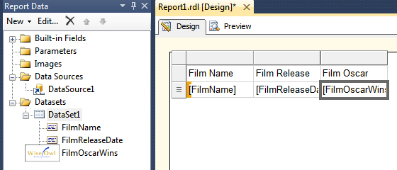 Creating a report in SSRS 2012