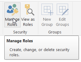 Managing security roles