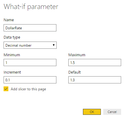 What-if parameter