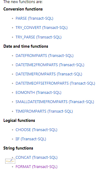 The 14 new SQL functions