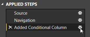 Editing a conditional column