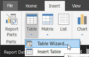 Table wizard