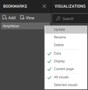 Power bi desktop bookmarks