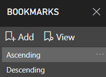 Ordering bookmarks