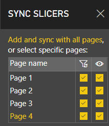 Sync slicers choices
