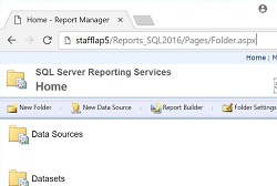 Reporting services web portal
