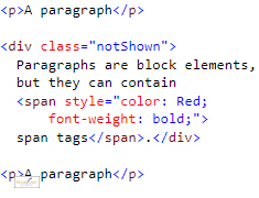 HTML for block elements