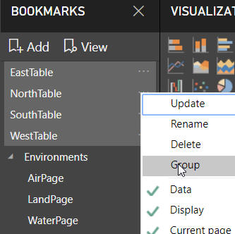 Grouping multiple bookmarks