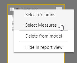 Select all measues