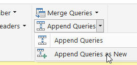 Append query as new