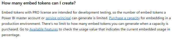 Embed token rules