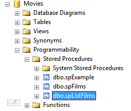 Stored procedure in database