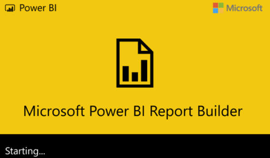 Power BI Report Builder - loading