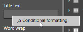 Formatting tooltip