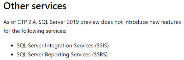 SSRS and SSIS