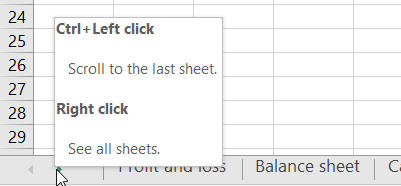Worksheet navigation