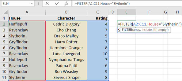 Slytherin people