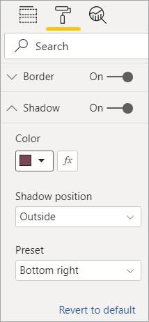 Shadow format options