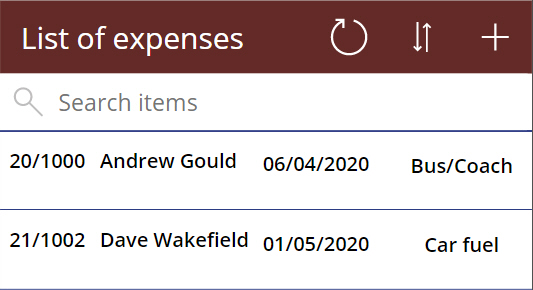 Power Apps Wise Owl Expenses