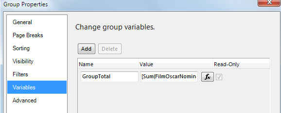 Adding group variable