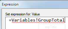 Name of group variable