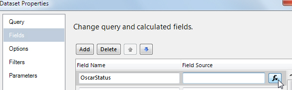 Entering name for calculated field