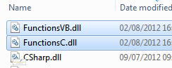 The DLL files copied