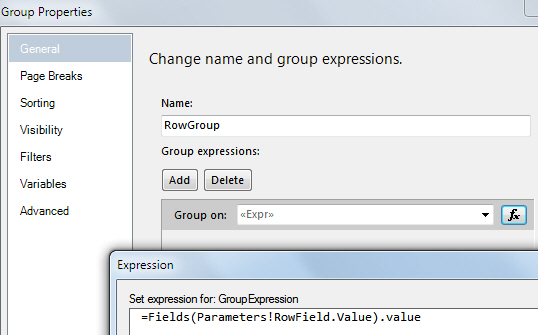 The RowGroup GroupExpression