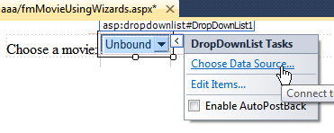 Choosing a dropdownlist data source