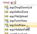 Starting gridview in HTML view