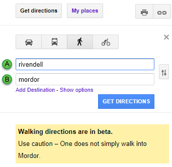Mordor warning