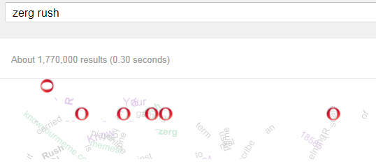 Zerg Rush Google search
