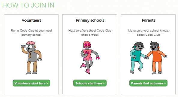 Join in with code club