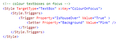 A property trigger in WPF