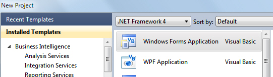 WinForms or WPF choice in Visual Studio