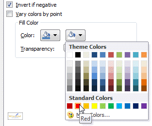 Negative fill colour options