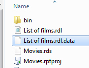 The data cache file
