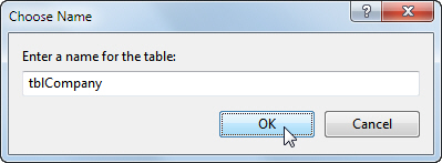 Choosing table name for SQL Server