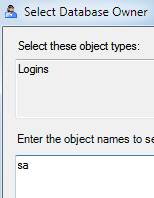The SQL Server sa account