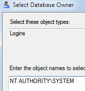 The Windows account in SQL Server