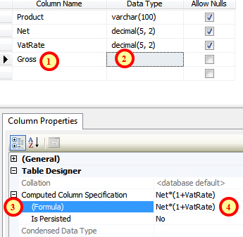 Creating a calculated column