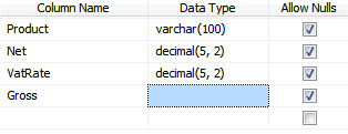 Data type vanished for computed column