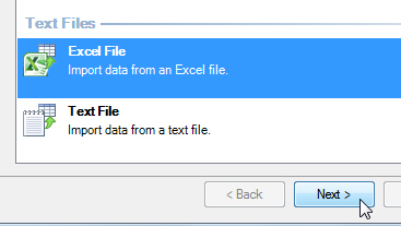 Excel file option