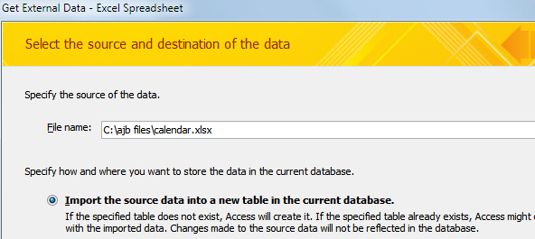 Get external data - Excel
